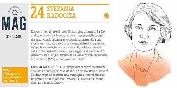 Complimenti a Stefania Radoccia, Managing Partner Tax&Law di EY