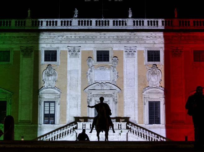 Tricolore sul Campidoglio